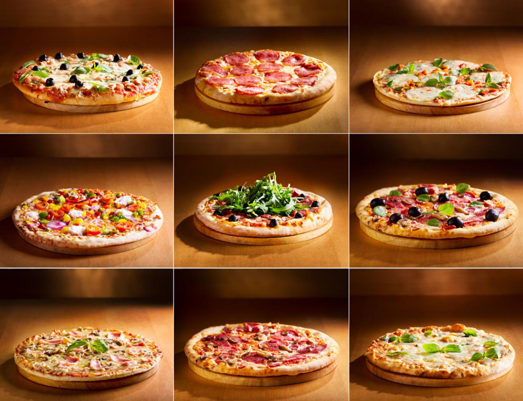 pizza -various types of pizzas