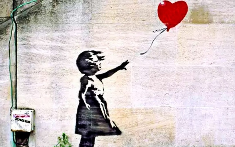 The work Balloon girl by Banksy