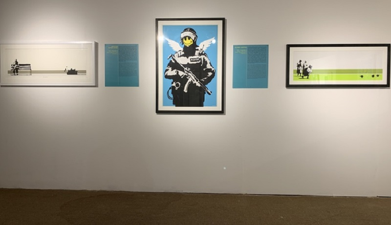 Works by Banksy  exhibited  in Cagliari