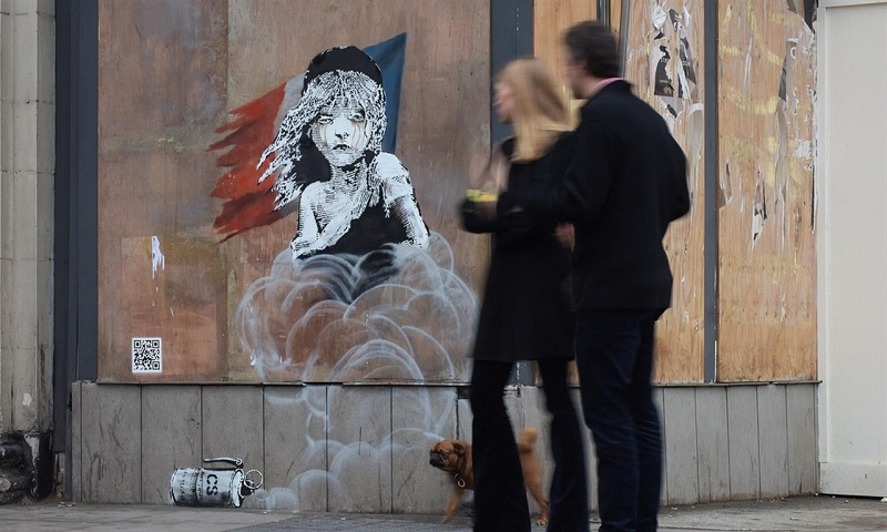 Cosette in tears by Banksy