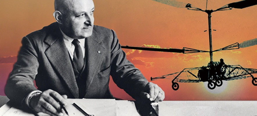 helicopter - image of the inventor