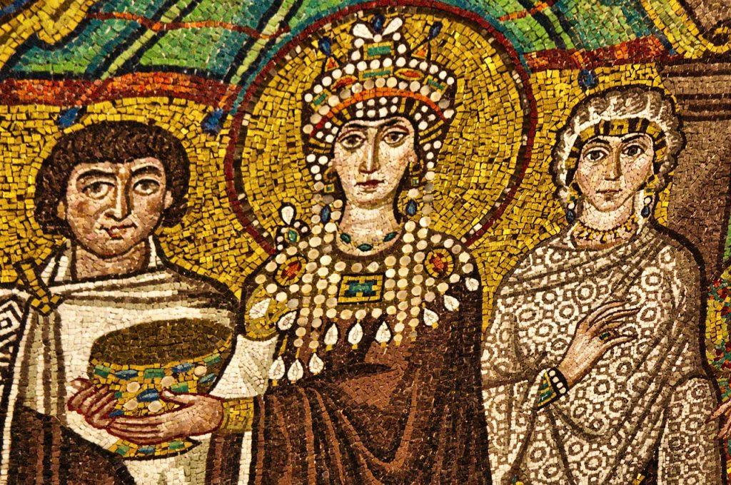 Ravenna.Mosaic in the mausoleum of Galla Placidia