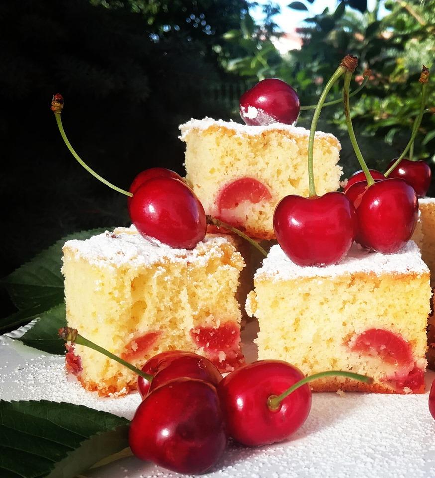 Soft cherry squares