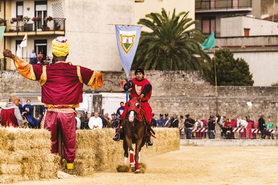 La Quintana del saraceno al Palio dei Normanni
