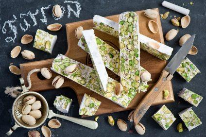 nougats - a nougat with pistachios