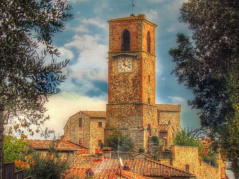 Torre dell'orologio del borgo di Anghiari