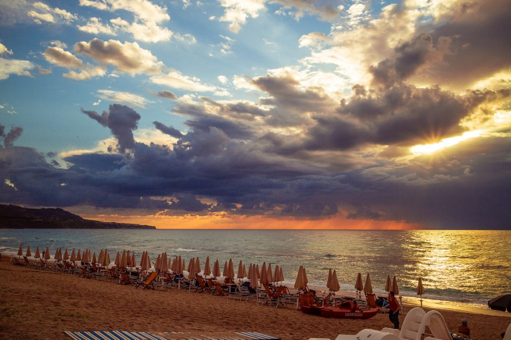 Sunset at the beach - Calabria