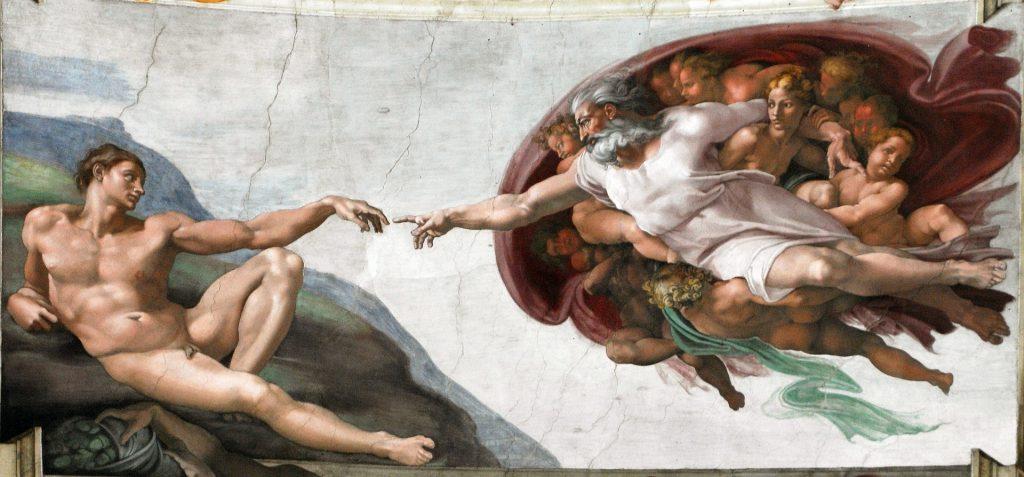 Cappella Sistina. Affresco di Michelangelo sulla volta della Sistina