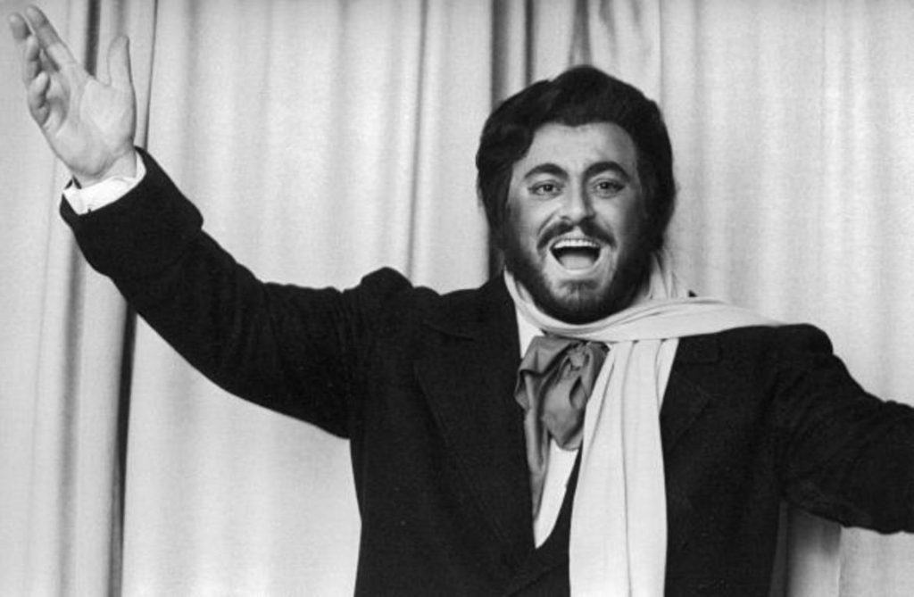 Luciano Pavarotti at its debut