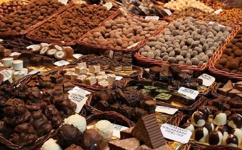 Alcuni dolci preparati per l'Eurochocolate di Perugia