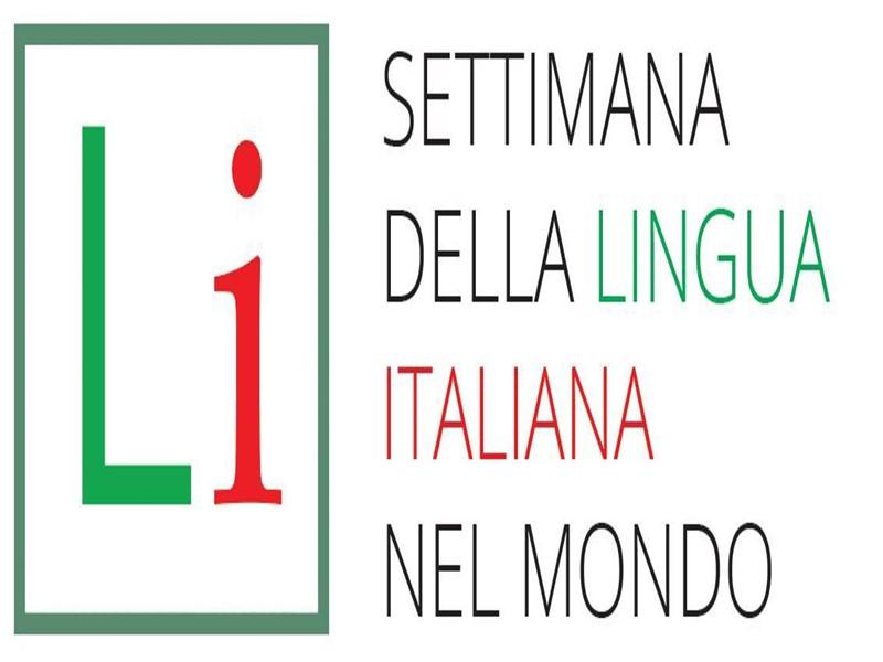 il logo della settimana della lingua italiana