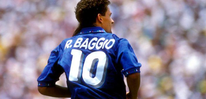 foto di Roberto Baggio con la maglietta numero 10