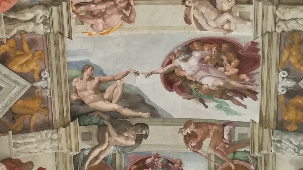 Sistine Chapel. Detail of the vault with Genesis fresco