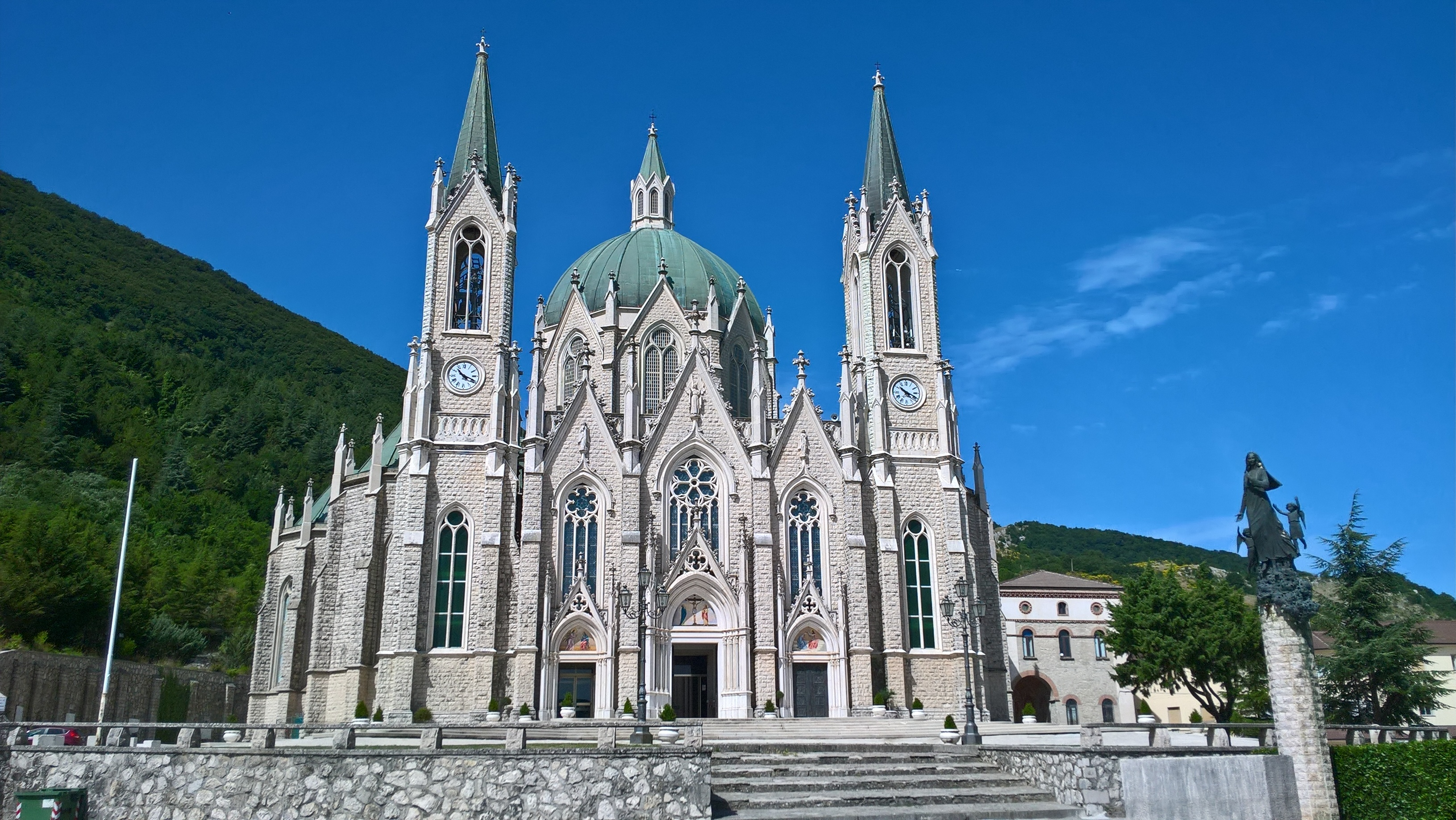 Basilica of Our Lady of Sorrows in Castelpetroso