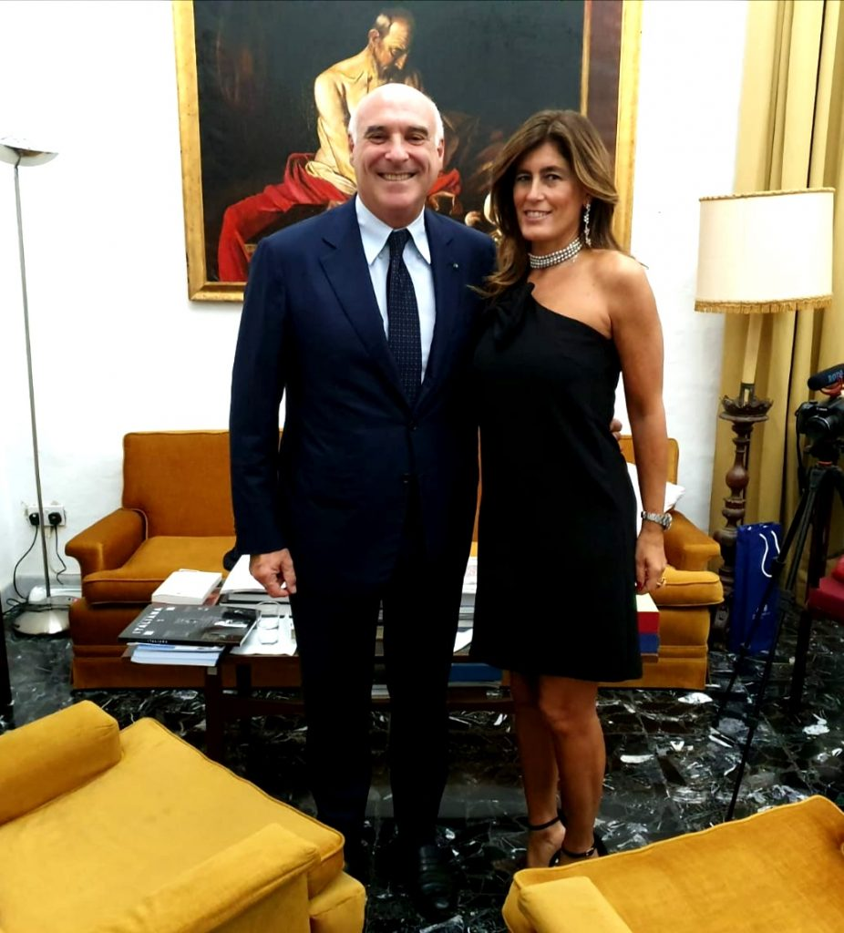 E. Marinella - Maurizio Marinella with Simona Mantovano