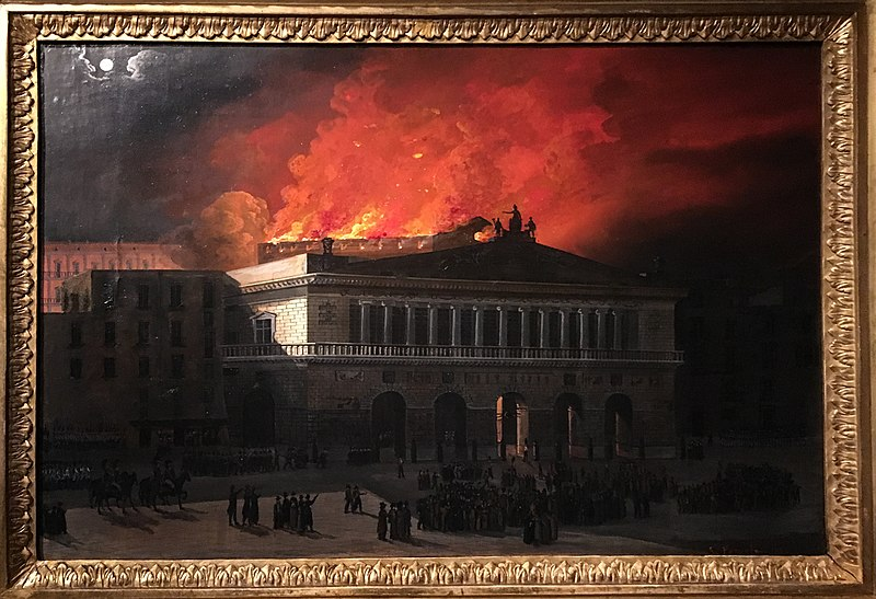 San carlo Theater- the fire