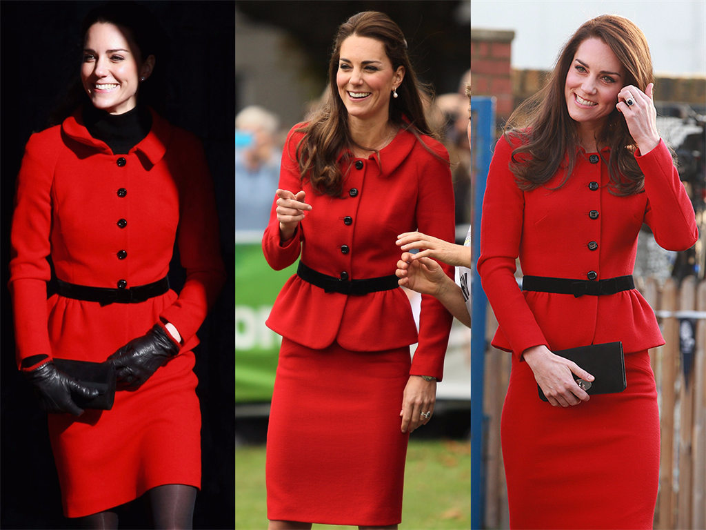 A creation by Luisa Spagnoli worn by the Duchess of Cambridge