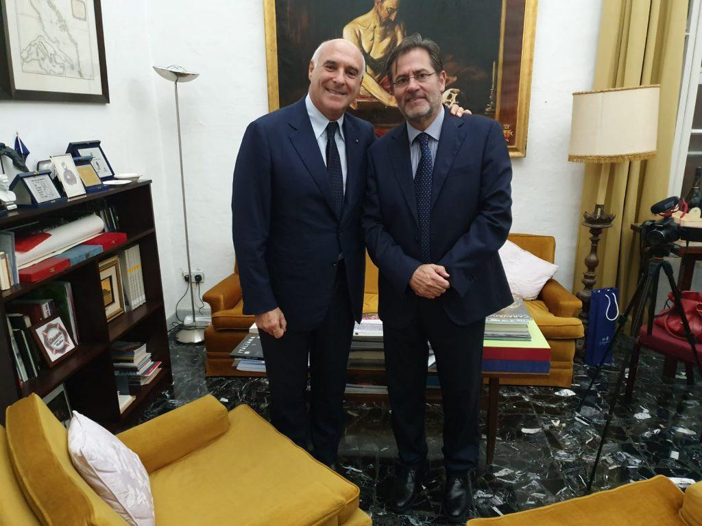 E. Marinella - Maurizio Marinella with Dr. Massimo Sarti
