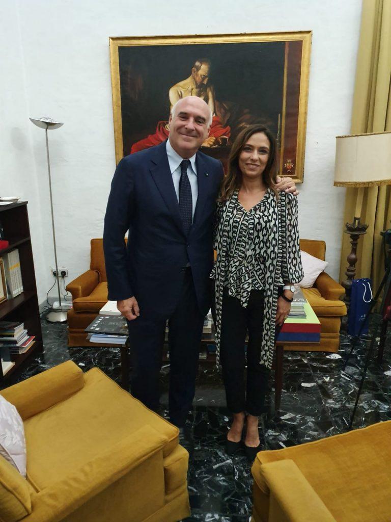 E. Marinella - Paola Stranges insieme a Maurizio Marinella