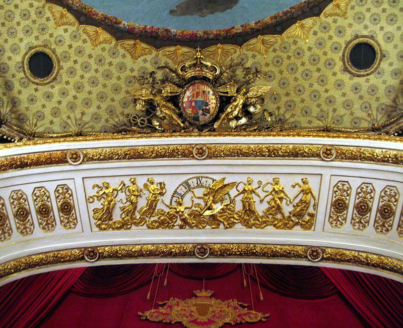 inaugurazione del Teatro San Carlo - arco scenico