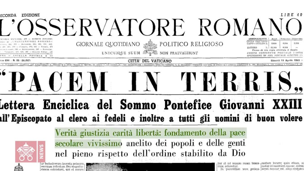 angelo roncalli and the newspaper of the pacem in terris