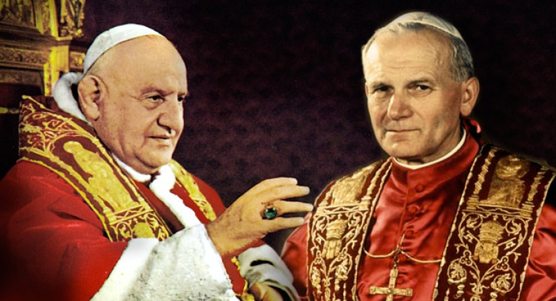 angelo roncalli, pope john XXIII and karol wojtyla saints popes