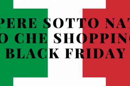 Italian flag with the writing: BLACK FRIDAY