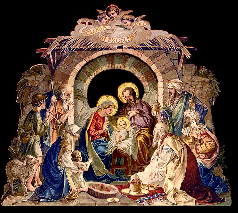 il presepe di San Francesco - quadro della sacra famiglia
