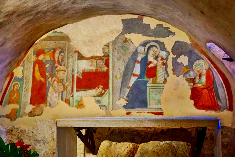 il presepe di San Francesco - un affresco