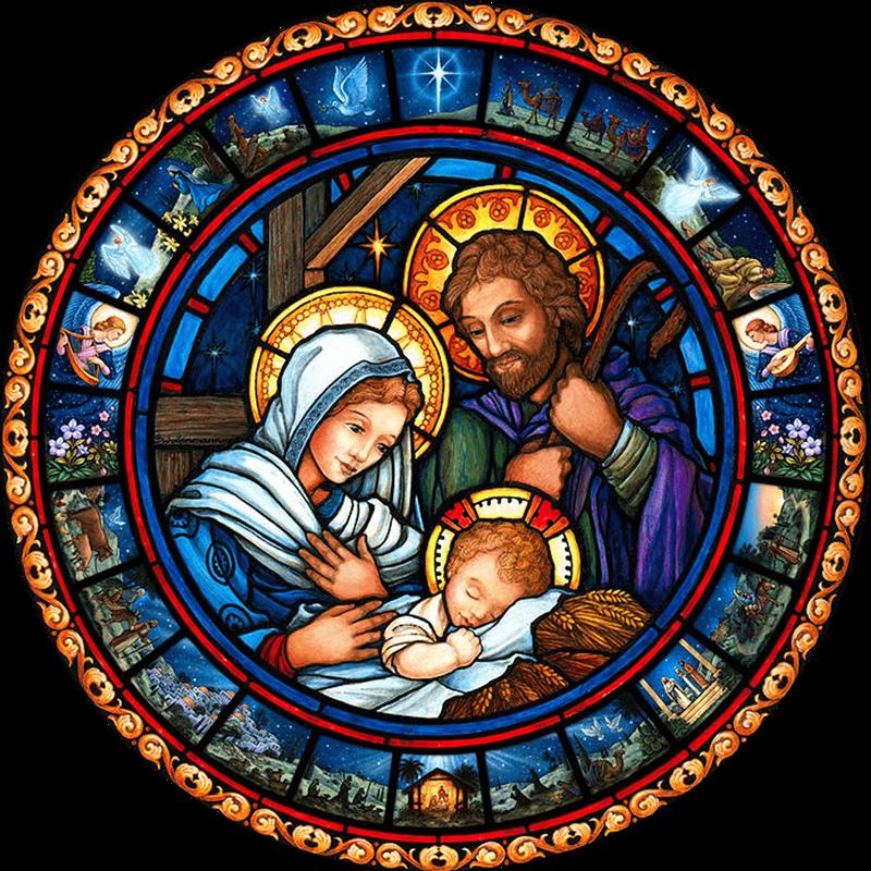 il presepe di San Francesco - tondo in vetro di murano