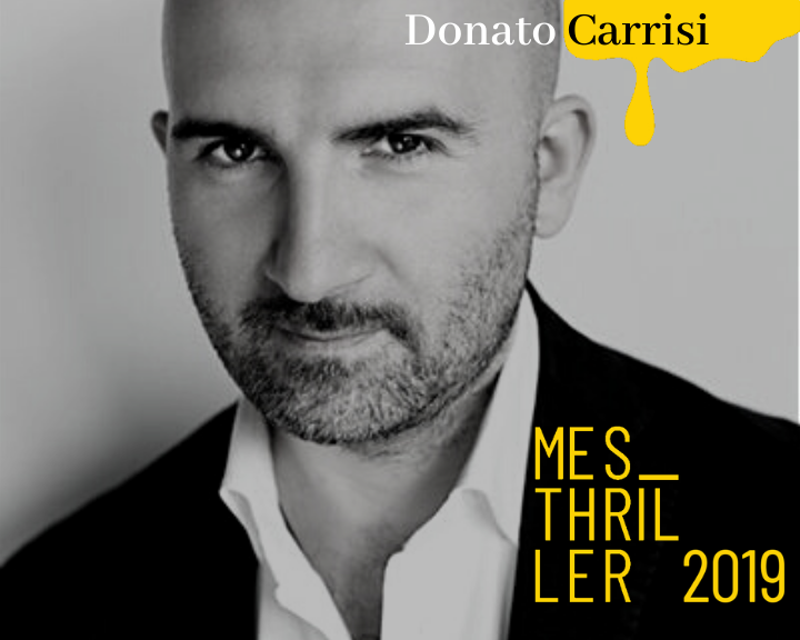 Mesthrillerblack and white photo of Donato Carrisi.