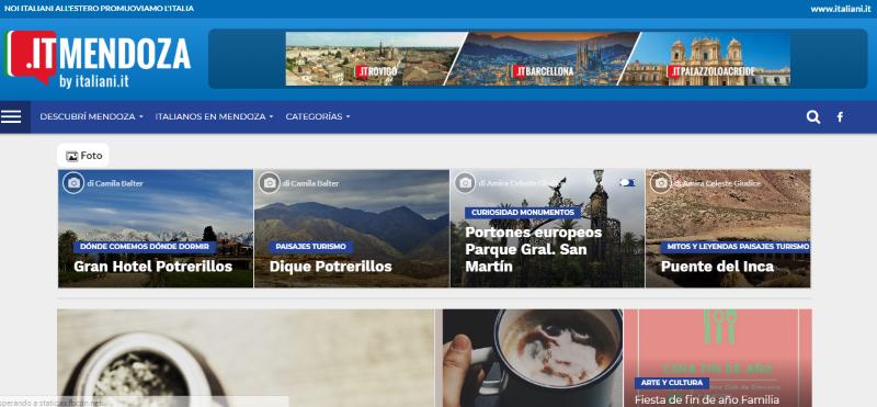 Patrimonio Italiano TV - schermata del sito itMendoza