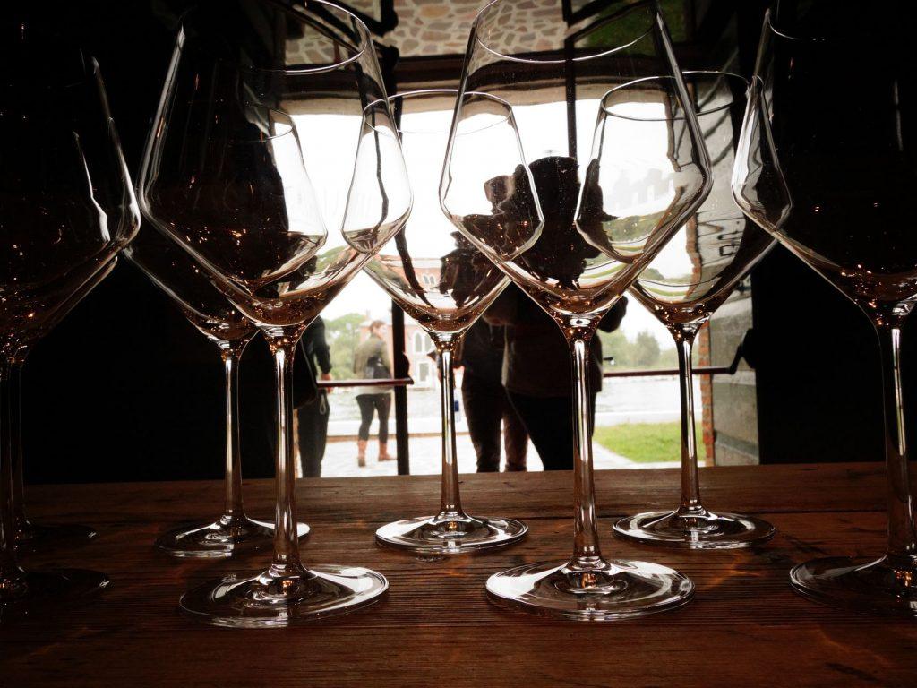 Laguna di Venezia - bicchieri di vino