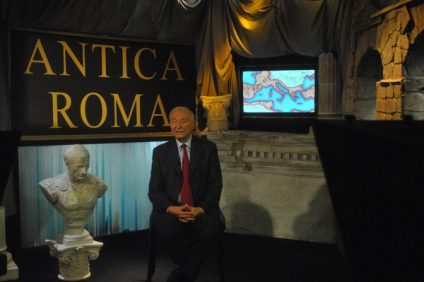 Piero Angela in tv studios