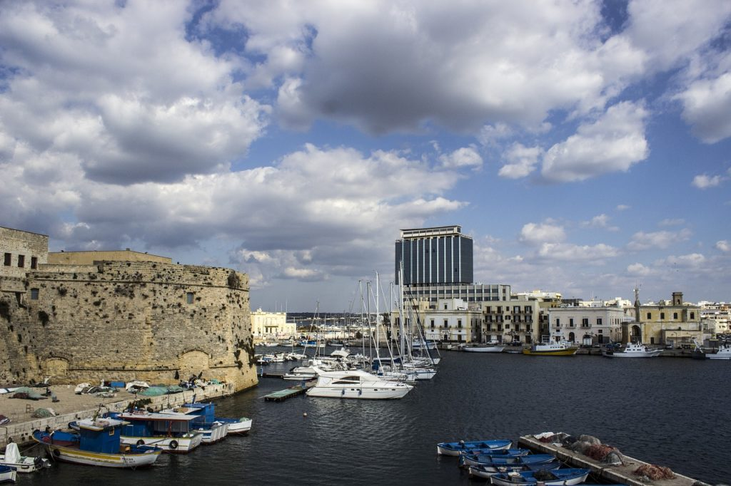 Stefano Minerva - veduta del porto di Gallipoli