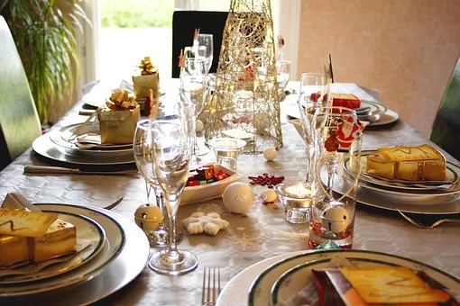 christmas dinner - Set table
