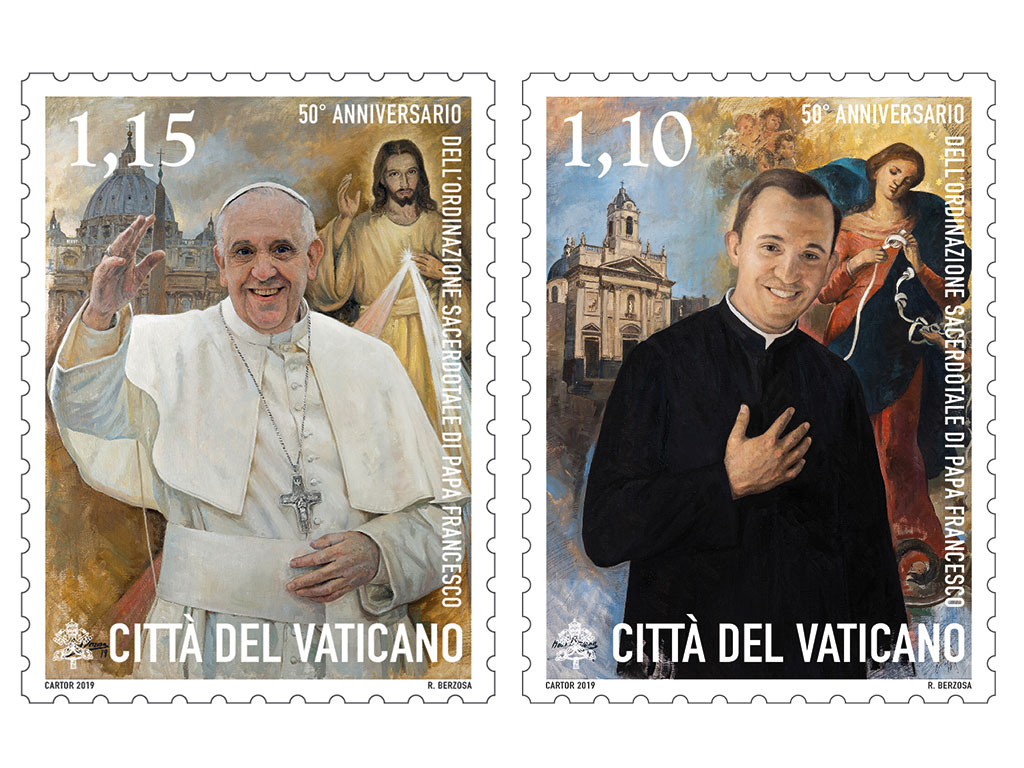 films and stamps with pope francis