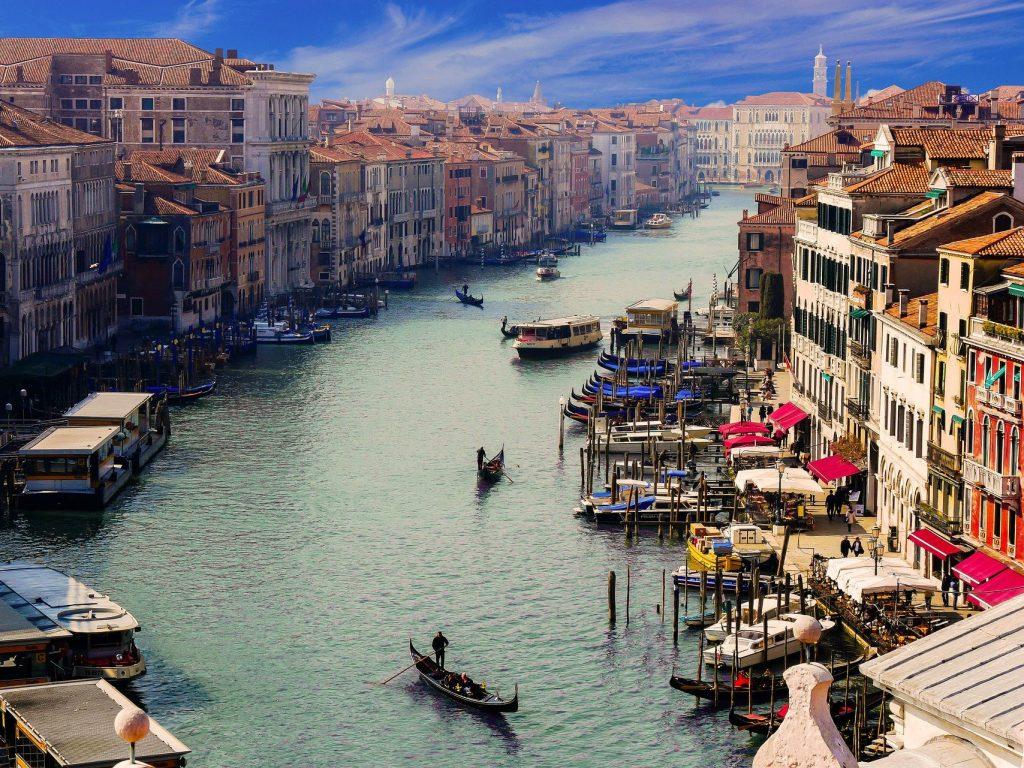 Laguna di Venezia - Vista del Canal Grande a Venezia