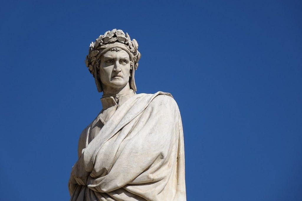 Dantedì - Statua di Dante alighieri