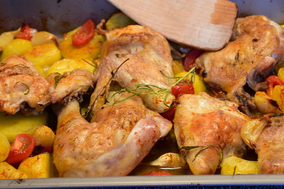 chicken with potatoes cooked