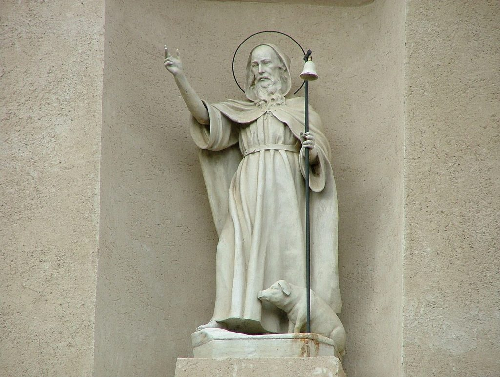 Saint anthony the abbot: the statue of the saint