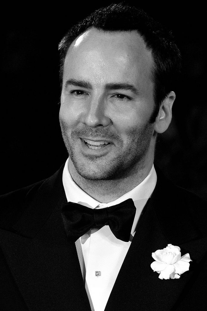 Tom Ford in a black and white photo