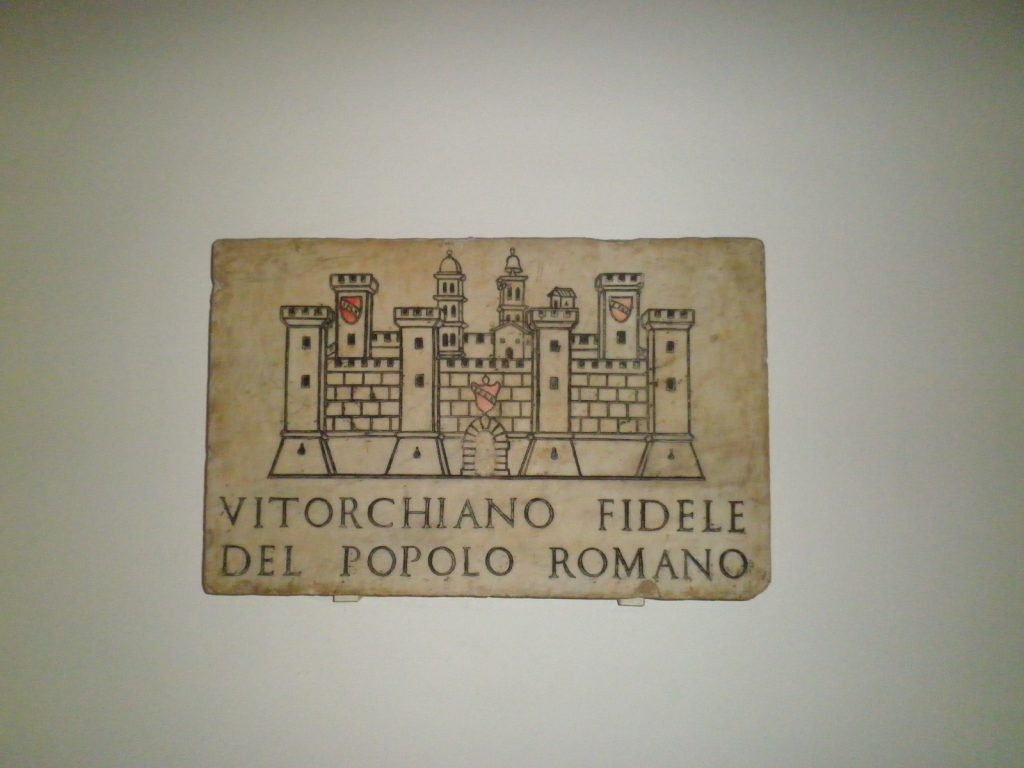 Vitorchiano - targa della città