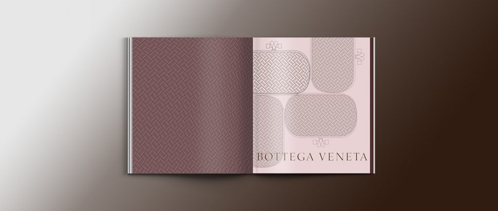brochure colorata di bottega veneta