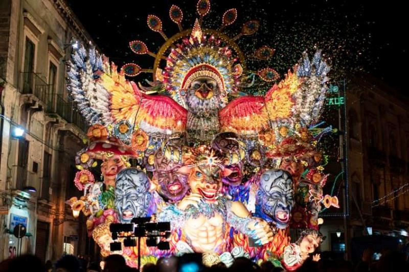 An allegorical float from the Carnival of Acireale