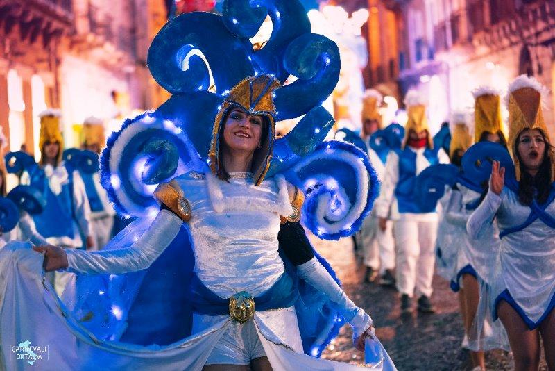 Una maschera del Carnevale di Acireale