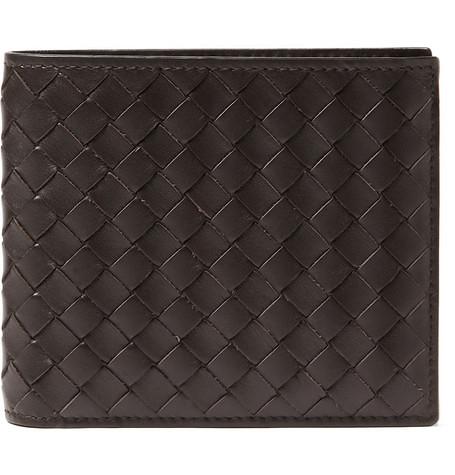brown wallet by bottega veneta
