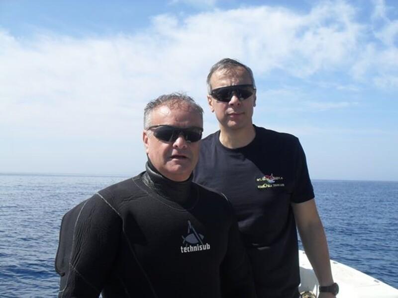 De Donno e Zervoudis nella spedizione subacquea a Patroklos