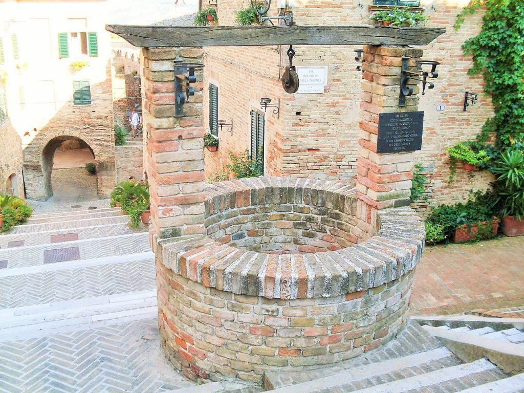The well of polenta in the medieval village of Corinaldo