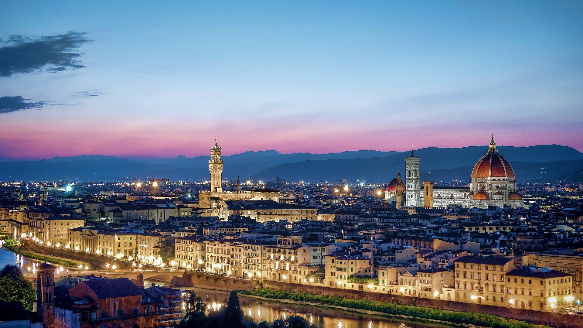 Vista della città di Firenze sede dell'azienda